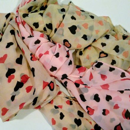 Reduced Chiffon Love Heart Scarf